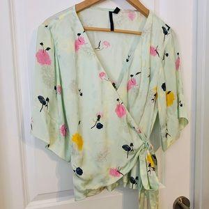 Topshop Boutique light green floral kimono style